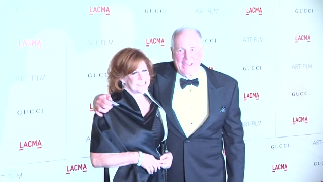 Susan Ekins Jerry Weintraub at the LACMA Hosts Inaugural Art Film Gala Honoring Clint Eastwood And John Baldessari Presented By GUCCI at Los Angeles...