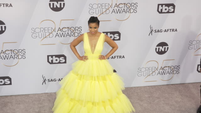 stockvideo's en b-roll-footage met susan kelechi watson at the 25th annual screen actors guild awards at the shrine auditorium on january 27 2019 in los angeles california - screen actors guild awards