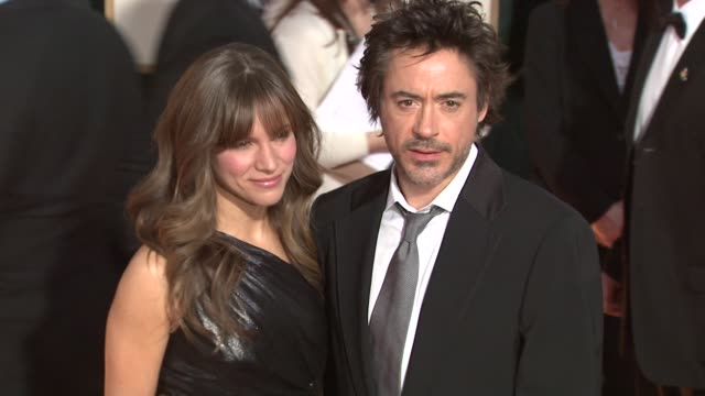 Susan Levin and Robert Downey Jr at the 66th Annual Golden Globe Awards Arrivals Part 5 at Los Angeles CA