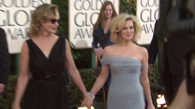 Susan Sarandon and Drew Barrymore at the 66th Annual Golden Globe Awards Arrivals Part 6 at Los Angeles CA