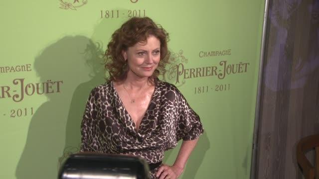 susan sarandon at the 200th anniversary of champagne perrier-jouet at new york ny. - スーザン・サランドン点の映像素材/bロール