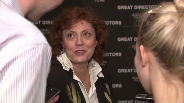 susan sarandon at the 'great directors' new york premiere at new york ny. - スーザン・サランドン点の映像素材/bロール