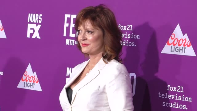 """susan sarandon at the premiere of fx network's """"feud: bette and joan"""" at tcl chinese theatre on march 01, 2017 in hollywood, california. - fx network stock videos & royalty-free footage"""