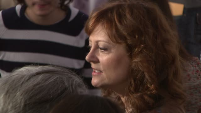 susan sarandon at the speed racer premiere at the 7th annual tribeca film festival at borough of manhattan community college / tribeca performing... - community college stock videos & royalty-free footage