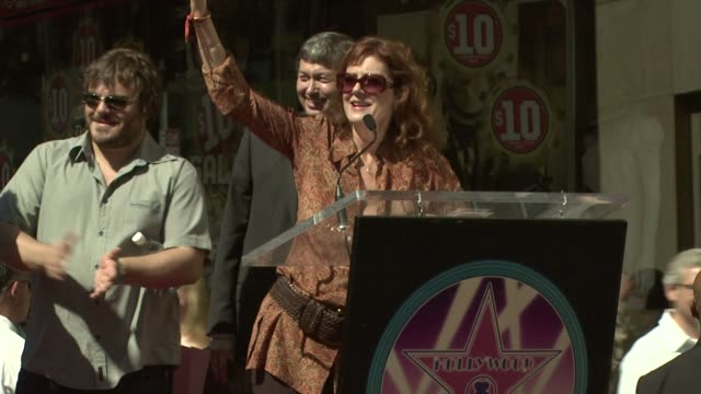 Susan Sarandon at the Tim Robbins Receives a Star on the Hollywood Walk of Fame at Los Angeles CA