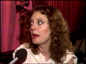 susan sarandon talks about never wanting to be an actress and how she ended up in the film industry susan sarandon interview on january 01, 1981 in... - 1981 stock videos & royalty-free footage