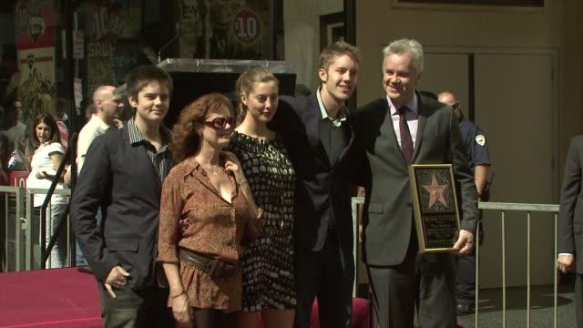 Susan Sarandon Tim Robbins at the Tim Robbins Receives a Star on the Hollywood Walk of Fame at Los Angeles CA