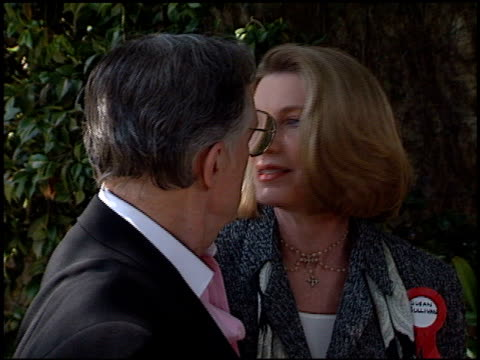 susan sullivan at the 72nd birthday party for hugh hefner at playboy mansion in los angeles california on april 9 1998 - playboy mansion stock videos & royalty-free footage
