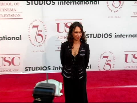 susana hoff at the usc school of film and television's 75th anniversary gala at hobart auditorium in los angeles california on september 26 2004 - 75th anniversary stock videos & royalty-free footage
