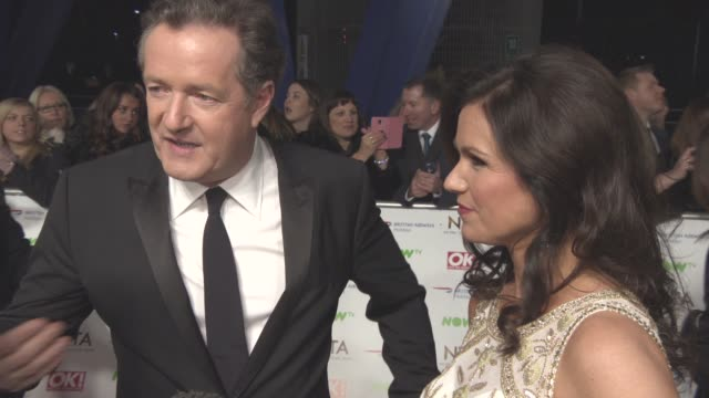INTERVIEW Susanna Reid Piers Morgan on date night Maisie Williams planning to kill him where they are sitting at National Television Awards 2016 on...
