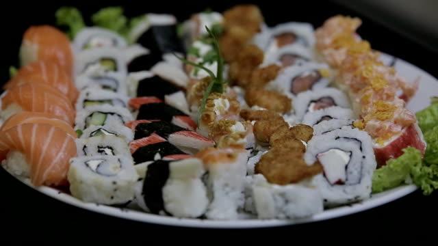 sushi platter - nigiri stock videos and b-roll footage