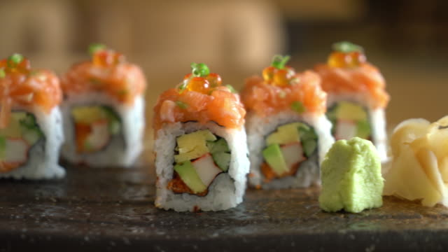 sushi roll with salmon