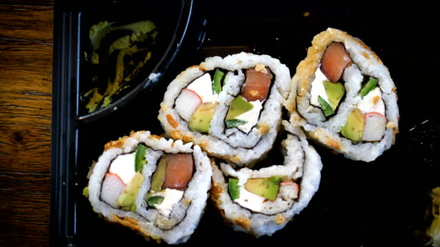 sushi rolls - food state stock videos & royalty-free footage