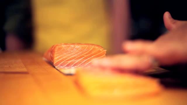 Sushi salmon tight