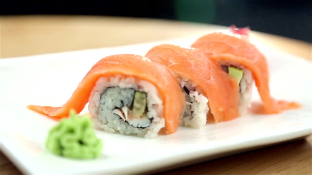 sushi - wasabi stock videos and b-roll footage