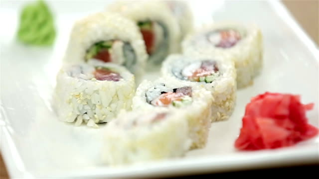 sushi - chive stock videos & royalty-free footage