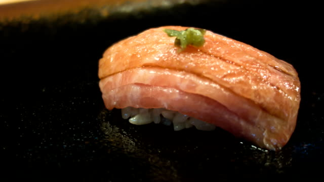 sushi. - toro fish stock videos and b-roll footage