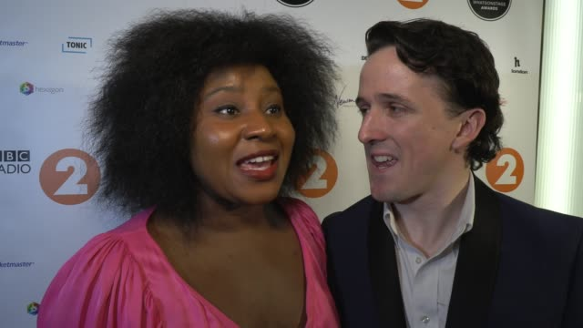 susie wokoma daniel monks on the awards and the importance of diversity at whatsonstage awards on march 01 2020 in london england - presentation stock videos & royalty-free footage