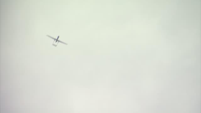 suspected israeli drones fly above the coast off gaza - gaza strip stock videos & royalty-free footage