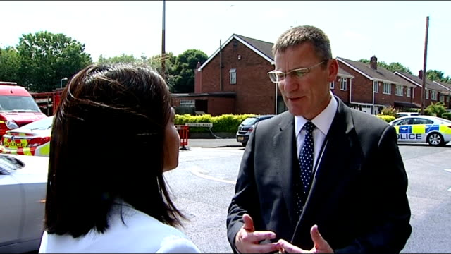 Suspected nailbomb found at Tipton mosque Assistant Chief Constable Marcus Beale interview with reporter in shot SOT Religious leaders towards Ghulam...