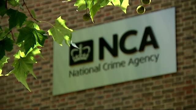 660 suspected paedophiles arrested in major police operation england london ext sign 'nca national crime agency' on wall of nca headquarters building - pedophilia stock videos and b-roll footage