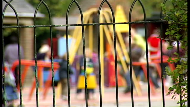 660 suspected paedophiles arrested in major police operation file date unknown various blurred anonymouse shots children in park playground and with... - pedofili video stock e b–roll