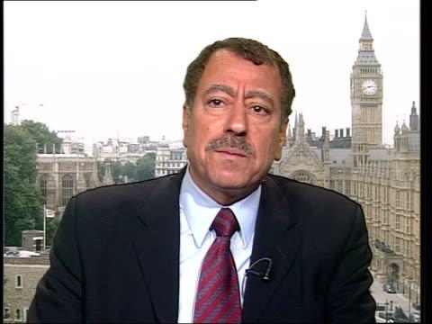 Suspected Saddam Hussein recording released ITN London Westminster Abdel Bari Atwan interview SOT have feeling Al Jazeera know Saddam Hussein is...