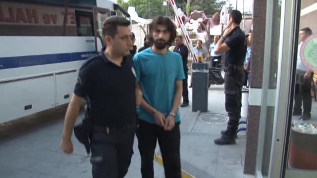 16 suspected terrorist member of daesh are taken into custody in konya turkey on 28 july 2015 - konya stock videos and b-roll footage