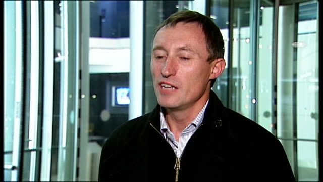 itv suspends premium rate phonein competitions during audit alan flitcroft interview sot - audit stock videos and b-roll footage