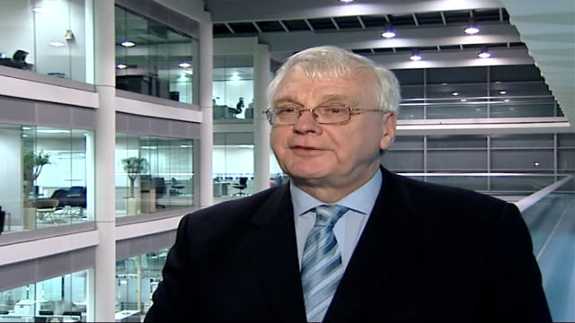 itv suspends premium rate phonein competitions during audit int sir alistair graham interview sot - audit stock videos and b-roll footage