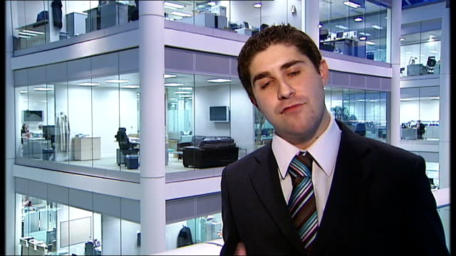 itv suspends premium rate phonein competitions during audit london gir reporter to camera - audit stock videos and b-roll footage