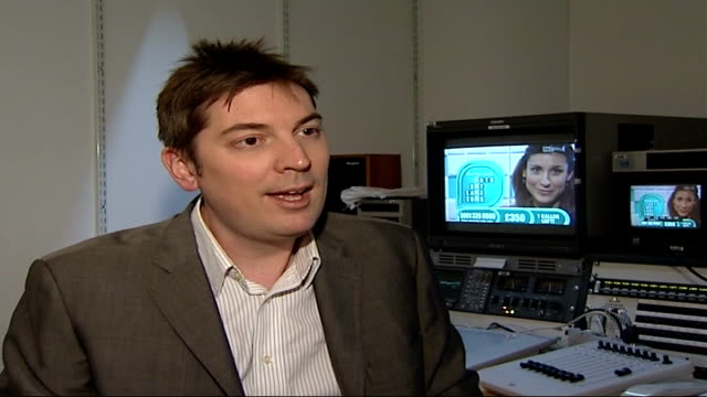 itv suspends premium rate phonein competitions during audit matt wells interview sot - audit stock videos and b-roll footage