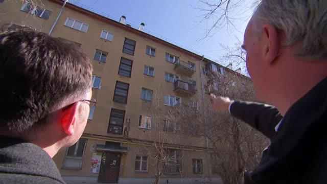 Suspicion grows over death of journalist investigating Russian mercenaries in Syria RUSSIA Yekaterinburg EXT GVs Apartment block and balcony /...