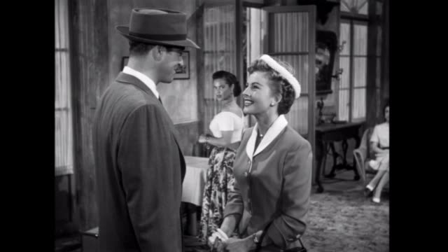 1952 suspicions are raised when a new guest arrives at an inn in borados - 1952 stock videos and b-roll footage