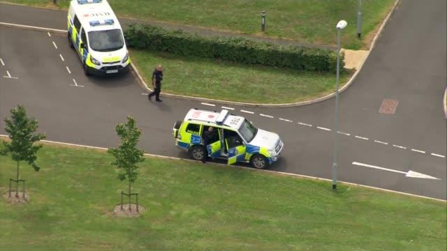 'suspicious' incident in aldershot as two men seen near army base: aerials; england: hampshire: aldershot: ext air views / aerials: aldershot... - aldershot stock videos & royalty-free footage