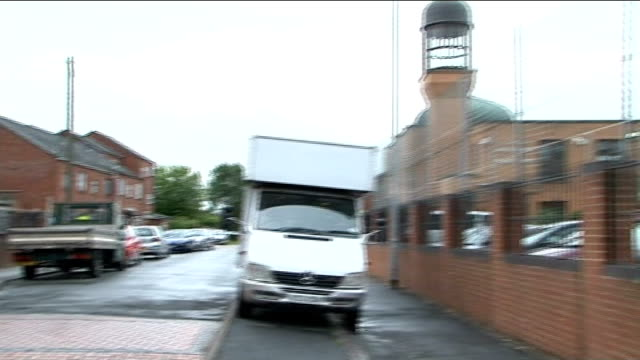 'Suspicious item' found near mosque in Walsall GVs ENGLAND West Midlands Walsall EXT General views of 'Aisha Mosque and Islamic Centre' / Various of...