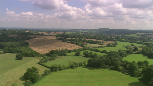 sussex landscape (put near heathfield) - aircraft point of view stock videos & royalty-free footage