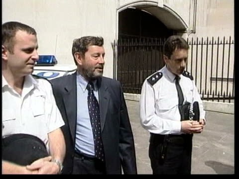 sussex police chief paul whitehouse resigns lib london ms david blunkett mp along with police ms blunkett posing with police wolverhampton inspector... - paul whitehouse stock-videos und b-roll-filmmaterial