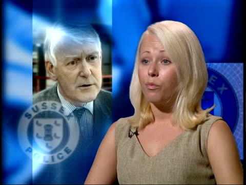 sussex police chief paul whitehouse resigns london gir amanda londonwilliams interview sot would not find out who responsible for my fathers killing... - paul whitehouse stock-videos und b-roll-filmmaterial