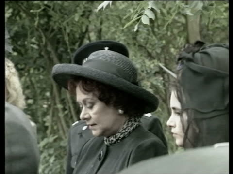 Sussex Steyning Widow Joan Plowright with family Coffin Anthony Hopkins amp wife along Alex Guinness along Maggie Smith along VIDEO ex SKY POOL via...
