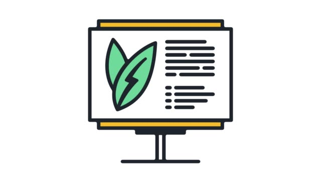 sustainability reporting‎ flat line icon animation with alpha - diagram stock videos & royalty-free footage