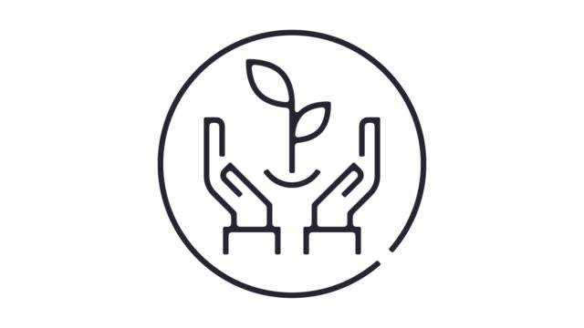 Nachhaltiges Leben Symbol Animation