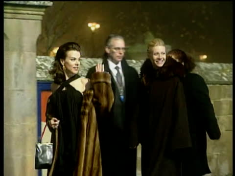 stockvideo's en b-roll-footage met royal burgh of dornoch madonna arriving and entering dornoch cathedral followed by her fiance guy ritchie carrying their son rocco in christening... - rupert everett