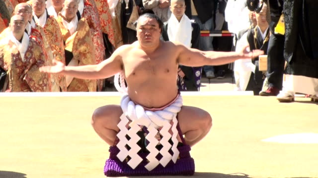 sutra chants and other buddhist rituals as well as appearance of grand champions of sumo wrestling kicked off a series of commemorative events to... - sacred lotus stock videos and b-roll footage