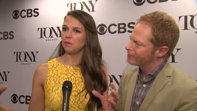 INTERVIEW Sutton Foster Jesse Tyler Ferguson on what an honor it is to be making the Tony nominations announcements on how exciting nominations day...