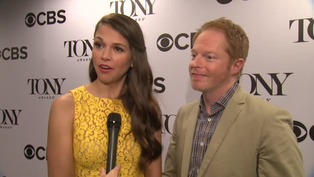 INTERVIEW Sutton Foster Jesse Tyler Ferguson on why the Tony Award is such a big deal on how hard these people work On watching the Tony Awards...