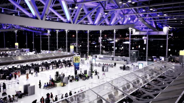 suvarnabhumi airport in bangkok - editorial stock videos & royalty-free footage