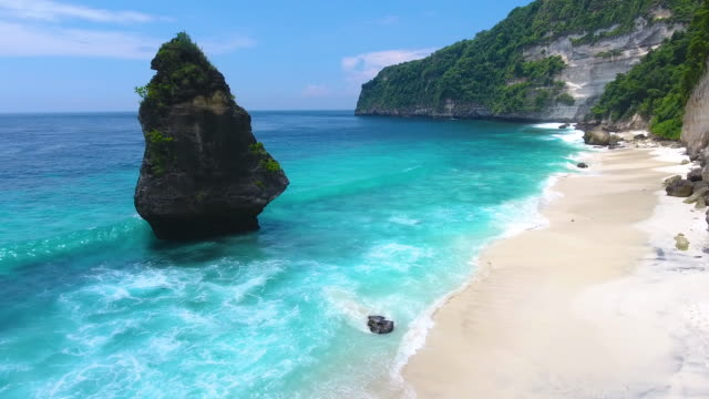 suwehan beach at nusa penida island - bali stock videos & royalty-free footage