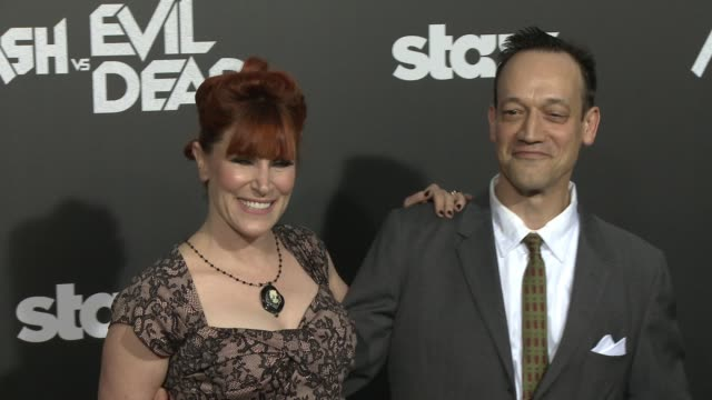 Suzanne Keilly and Ted Raimi at the Ash Vs Evil Dead Los Angeles Premiere And Live Performance By Iggy Pop at TCL Chinese Theatre on October 28 2015...