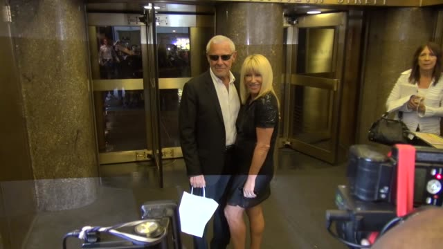 suzanne somers and alan hamel at nbc studios in new york ny on 9/25/13 - suzanne somers stock videos & royalty-free footage